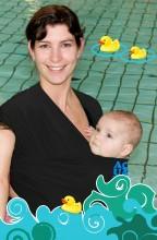 bykay aqua carrier draagdoek onder de douche zwembad
