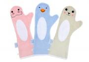 shower glove douchen baby handschoen